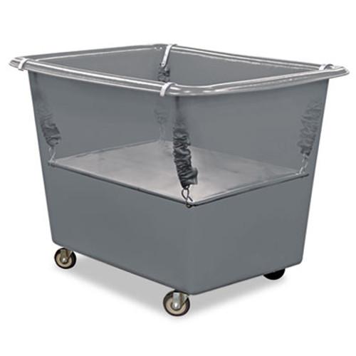 Royal Basket Trucks Poly Spring Lift, 17 x 29 1/2, 8 Bushel, Vinyl/Steel, Gray (RBT R08-GGX-PSN)