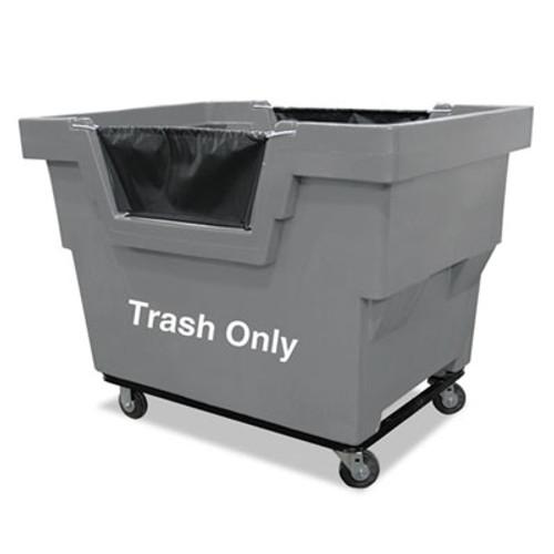 Royal Basket Trucks Mail Truck, Trash Only, 31 3/4 x 48 x 37, 1,000 lbs. Capacity, Gray (RBT R23GRXTM4UN)