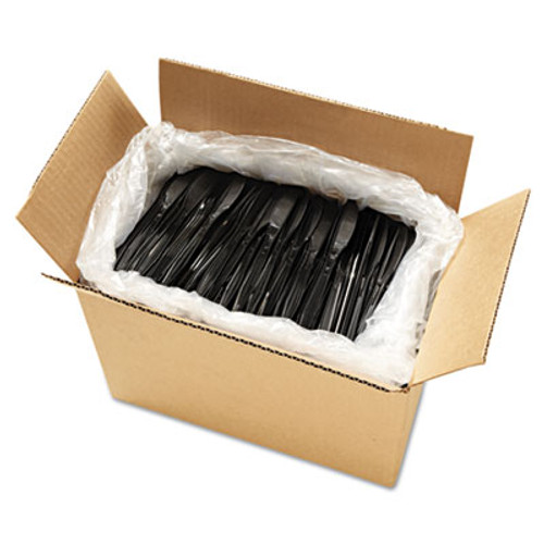 Boardwalk Heavyweight Polystyrene Cutlery, Knife, Black, 1000/Carton (BWK KNIFEHW-BLA)