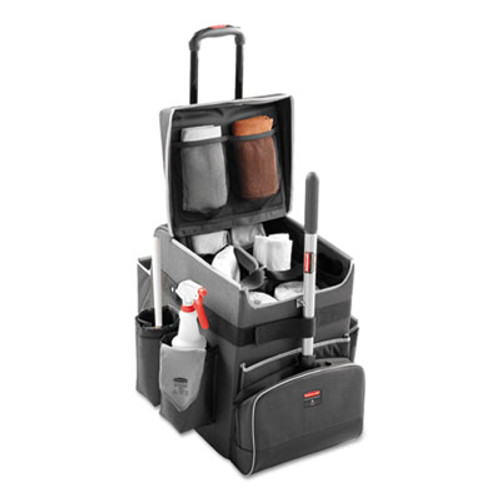 Rubbermaid Commercial Executive Quick Cart, Small, 14 1/4 x 16 1/2 x 17, Dark Gray (RCP 1902467)
