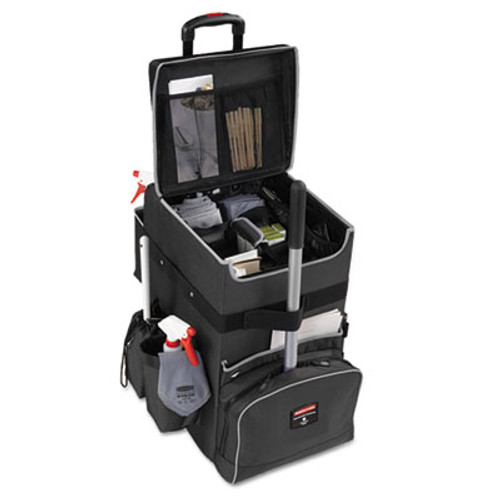 Rubbermaid Commercial Executive Quick Cart, Large, 14 1/4 x 16 1/2 x 25, Dark Gray (RCP 1902465)