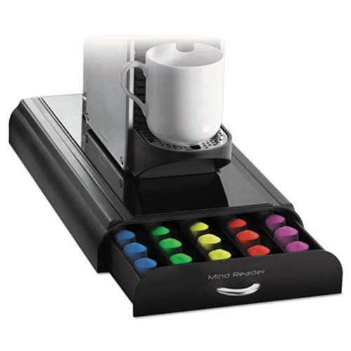 Mind Reader Anchor 50-Capacity Nespresso Capsule Drawer, 9 1/4 x 16 x 2 3/8, Black (EMSNESTRY01BLK)