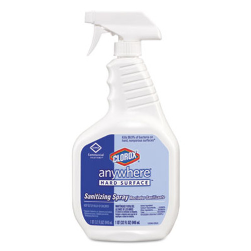 Clorox Anywhere Hard Surface Sanitizing Spray, 32oz Spray Bottle, 12/Carton (COX01698)