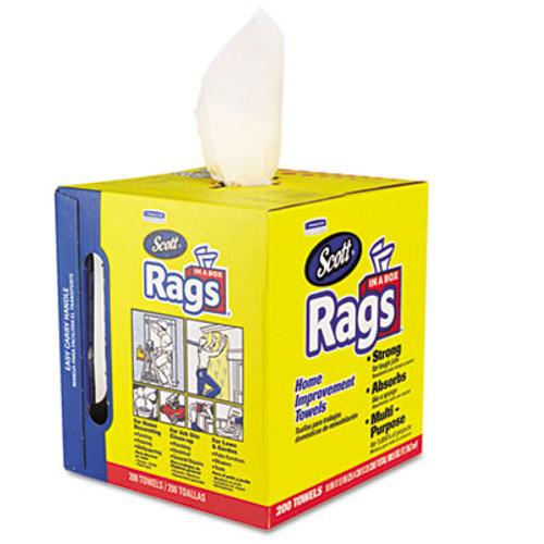 Scott Rags in a Box, 10 x 12, White, 200/Box (KCC75260)