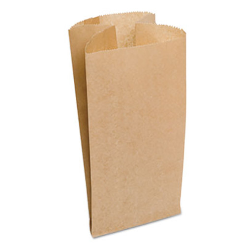 """Bagcraft Garbage Can Liner Bag Dubl Wax 4gal Natural, 7 3/4"""" x 17"""", Brown, 500/CT (BGC 300532)"""