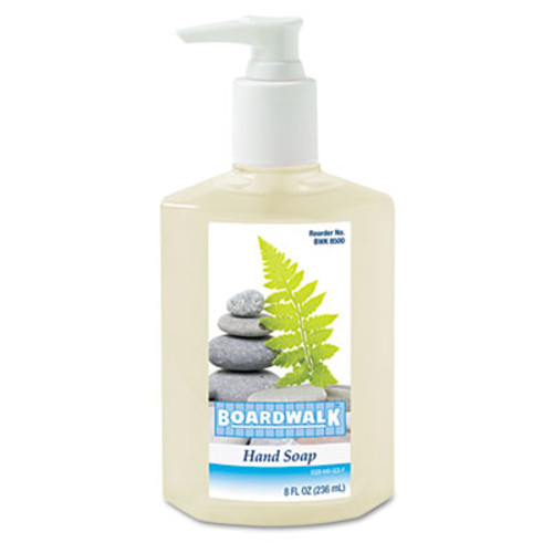 Boardwalk Liquid Hand Soap, Floral, 8oz Pump Bottle, 12/Carton (BWK8500)