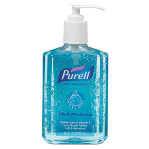PURELL Ocean Mist Instant Hand Sanitizer, 8oz Pump Bottle, Blue (GOJ 301212CT)