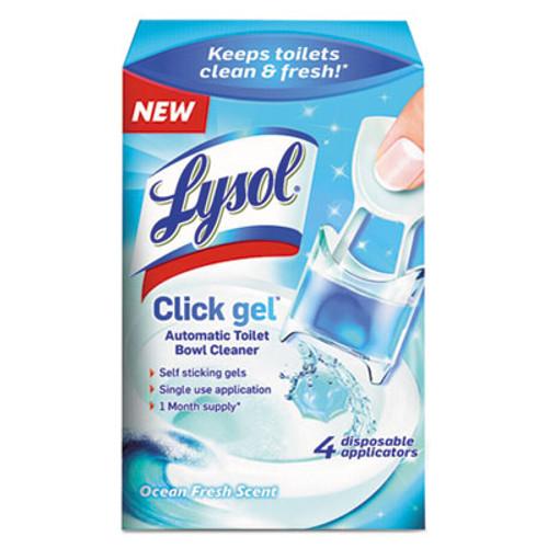 LYSOL Click Gel Automatic Toilet Bowl Cleaner, Ocean Fresh, 0.17oz, 4/Box, 5 BX/CT (RAC92918CT)
