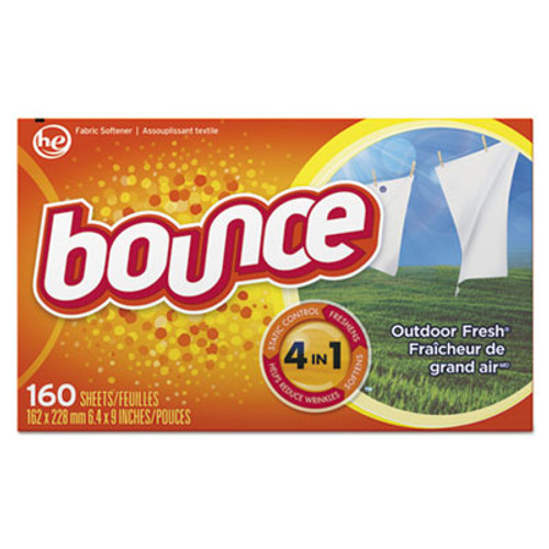 Bounce Fabric Softener Sheets, 160 Sheets/Box, 6 Boxes/Carton (PGC80168CT)