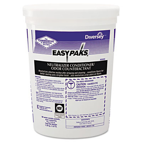 Easy Paks Neutralizer Conditioner/Odor Counteractant, .5oz Packet, 90/Tub, 2 Tubs/Carton (DVO990685)