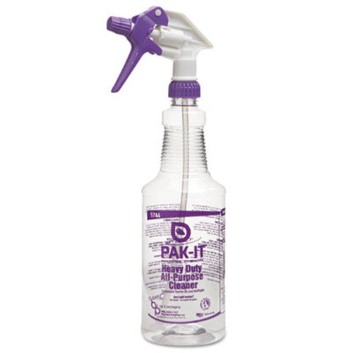 PAK-IT Color-Coded Trigger-Spray, 32 oz, Purple: Heavy-Duty All Purpose Cleaner, 12/CT (BIG5744204012CT)