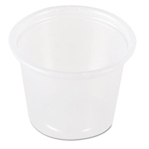 SOLO Cup Company Plastic Soufflé Portion Cups, 1 1/2 oz, Translucent (DCCP1500100)