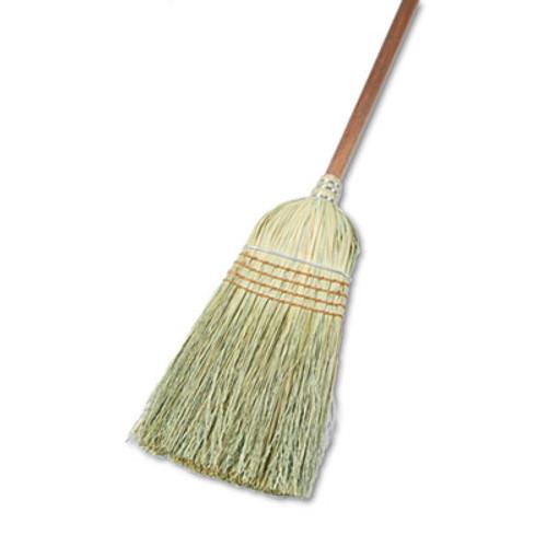 "Boardwalk Warehouse Broom, Corn Fiber Bristles, 42"" Wood Handle, Natural, 12/Carton (BWK932YCT)"