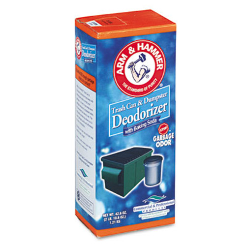 Arm & Hammer Trash Can & Dumpster Deodorizer, Sprinkle Top, Original, Powder, 42.6oz (CDC3320084116)