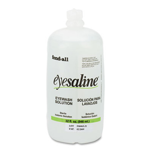 Honeywell Fendall Eyesaline Eyewash Saline Solution Bottle Refill, 32 oz (FND3200045500EA)