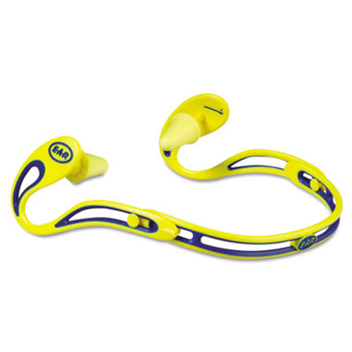 3M E·A·R Swerve Banded Hearing Protector, Corded, Yellow (MMM3222000)