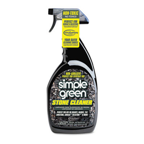 Simple Green Non-Abrasive Stone Cleaner, Unscented, 32oz Bottle (SMP18401)
