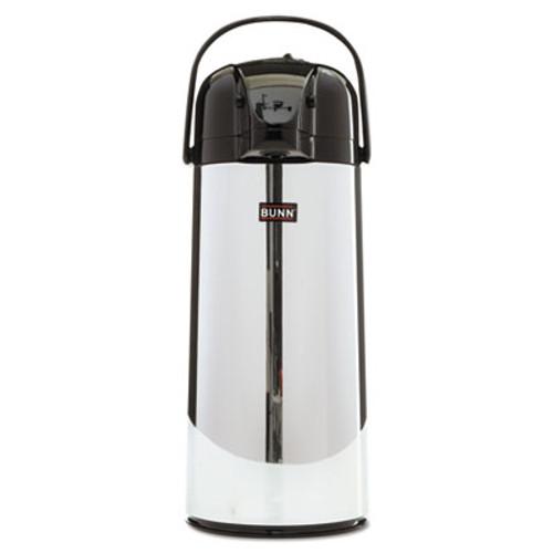 BUNN 2.2 Liter Push Button Airpot, Stainless Steel (BUNAIRPOT22)
