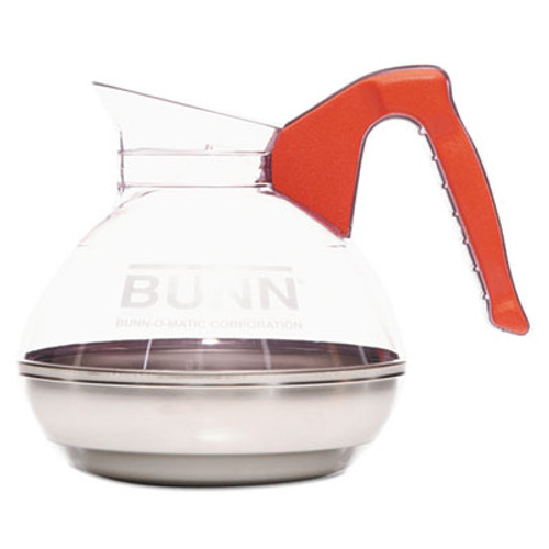 BUNN 64 oz. Easy Pour Decanter, Orange Handle (BUN6101)