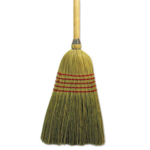 """Boardwalk Parlor Broom, Yucca/Corn Fiber Bristles, 42"""" Wood Handle, Natural (BWK926YEA)"""