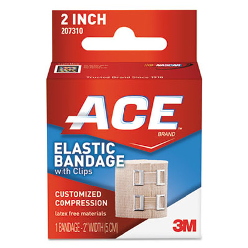 """ACE Elastic Bandage with E-Z Clips, 2"""" (MMM207310)"""