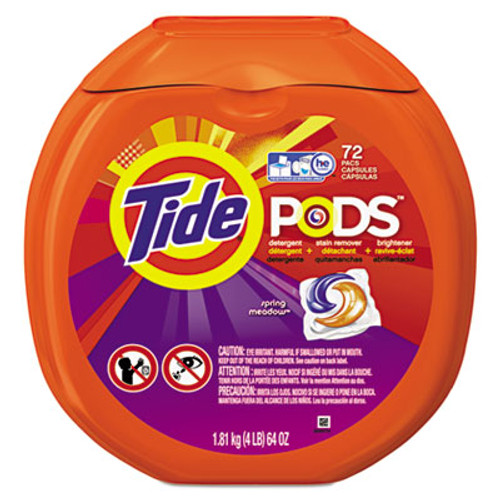 Tide Detergent Pods, Spring Meadow Sent, 72 Pods/Pack (PGC50978)