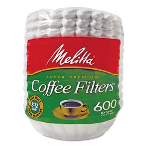 Melitta Basket Style Coffee Filters, Paper, 8 to 12 Cups, 7200/Carton (MLA631132)