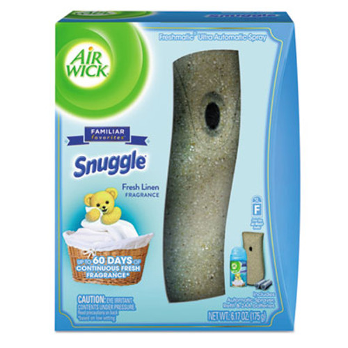 Air Wick Freshmatic Ultra Automatic Starter Kit, Snuggle Fresh Linen,6.17oz Aerosl,4/Crtn (RAC93554)