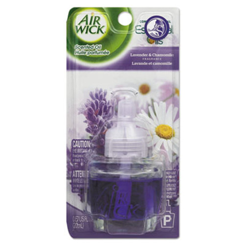 Air Wick Scented Oil Refill, Relaxation Lavender & Chamomile, 0.67oz Bottle, Blue, 8/CT (RAC78297CT)