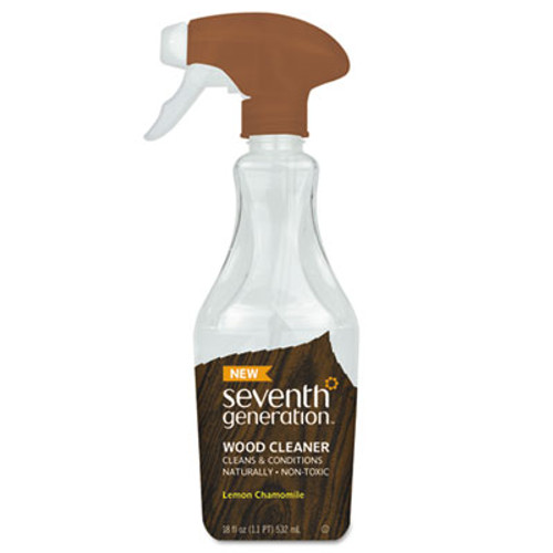 Seventh Generation Natural Wood Cleaner, Lemon Chamomile, 18 oz Spray Bottle, 8/CT (SEV22856CT)