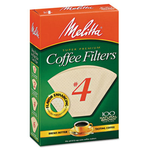 Melitta Basket Style Coffee Filters, Paper, 8 to 12 Cups, 1200/Carton (MLA624602)