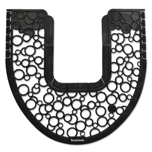 Boardwalk Commode Mat 2.0, Rubber, 22 7/8 x 22, Black/White, 6/Carton (BWKCMBW)