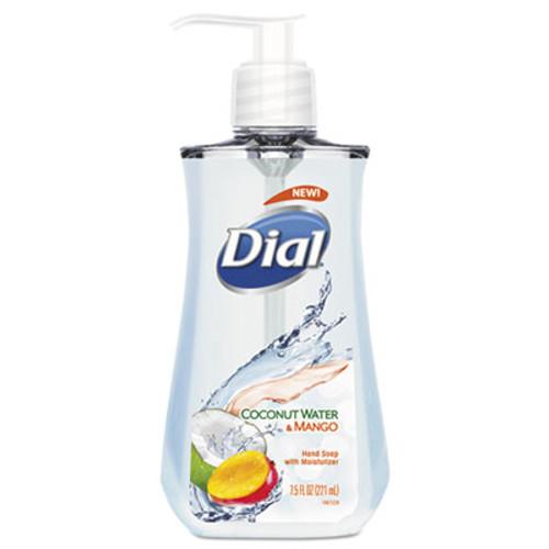 Dial Liquid Hand Soap, 7 1/2 oz Pump Bottle, Coconut Water & Mango,12/Crtn (DIA12159CT)