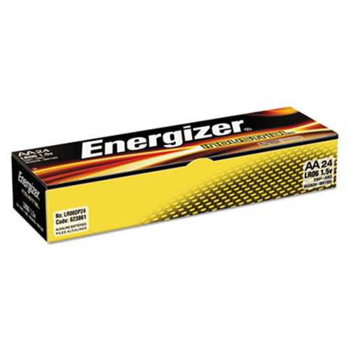 Energizer Industrial Alkaline Batteries, AA, 24 Batteries/Box (EVEEN91)