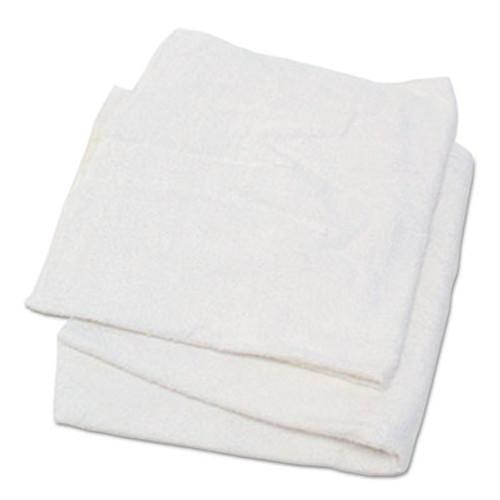 Hospital Specialty Co. Woven Terry Rags, White, 15 x 17, 25 lb Box, 170/Carton (HOS53725)