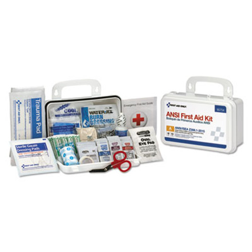First Aid Only ANSI Class A 10 Person First Aid Kit, 71 Pieces (FAO90754)