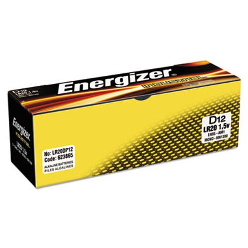 Energizer Industrial Alkaline Batteries, D, 12 Batteries/Box (EVEEN95)
