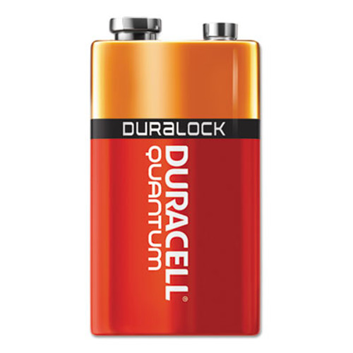 Duracell Quantum Alkaline Batteries with Duralock Power Preserve Technology, 9V, 12/Box (DURQU1604BKD)