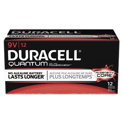 Duracell Quantum Alkaline Batteries with Duralock Power Preserve Technology, 9V, 72/CT (DURQU1604)