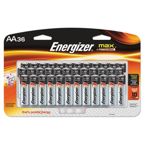 Energizer MAX Alkaline Batteries, AA, 36 Batteries/Pack (EVEE91SBP36H)
