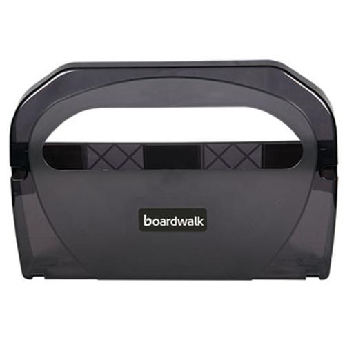 Boardwalk Toilet Seat Cover Dispenser, Plastic, 17 1/4 x 3 1/8 x 11 3/4, Smoke Black (BWKTS510SBBWEA)
