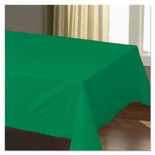 "Hoffmaster Cellutex Table Covers, Tissue/Polylined, 54"" x 108"", Jade Green, 25/Carton (HFM220629)"