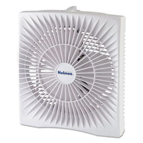"Holmes 10"" Personal Size Box Fan, Plastic, White (HLSHABF120WN)"