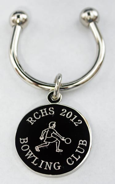 Custom logo keychain.