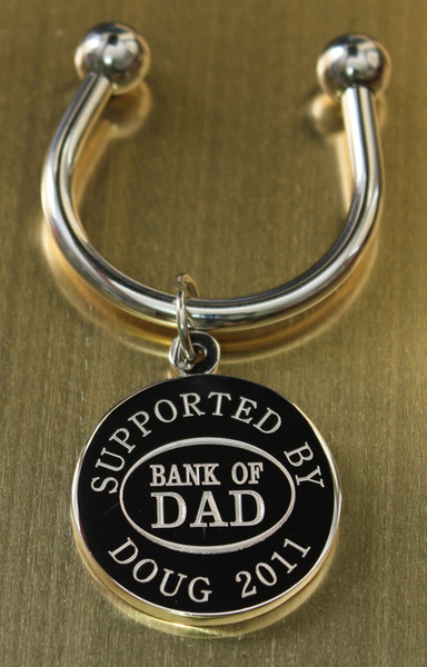 Bank of Dad keychain.
