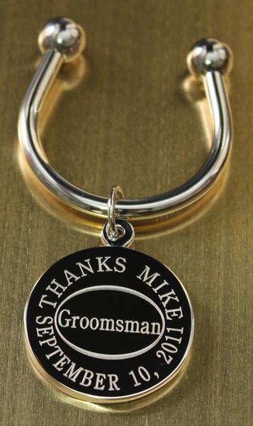 Groomsman keychain.
