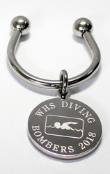 Swimming Engraved Keychains
