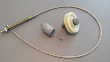 1968-1982; C3; Emergency Brake Cable and Pulley Kit; Stainless Steel