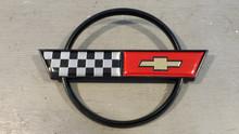 1984-1990; C4; Rear Fuel Gas Door Lid Emblem