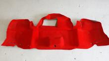 1998-2004; C5; Convertible; Rear Trunk Bumper Carpet; TORCH RED